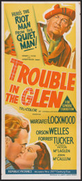 "Movie Posters:Comedy, Trouble in the Glen (20th Century Fox, 1954). Australian Daybill (13"" X 30""). Comedy.. ..."