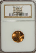 Lincoln Cents: , 1984 1C Doubled Die Obverse MS66 Red NGC. FS-037. NGC Census:(98/159). PCGS Population (409/169). Mintage: 8,151,078,912....