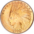 Indian Eagles, 1910-S $10 MS63 PCGS....