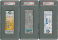 Baseball Collectibles:Tickets, 3000th Strikeout PSA Graded Tickets Lot Of 3....