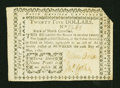 Colonial Notes:North Carolina, North Carolina May 10, 1780 $25 Very Fine....