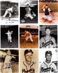 Autographs:Photos, Boston and Milwaukee Braves Stars Signed Photographs Lot of 62....