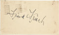 Autographs:Post Cards, 1950 Frank Frisch Signed Government Postcard....