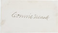 Autographs:Others, Connie Mack Signed Blank Business Card....