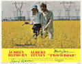 "Movie Posters:Drama, Two for the Road (20th Century Fox, 1967). Autographed Lobby Card (11"" X 14"").. ..."