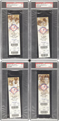 Baseball Collectibles:Tickets, 2003 Roger Clemens 300th Win & 4,000 Strikeout Full Ticket Lotof 4 PSA NM 7. ... (Total: 4 items)