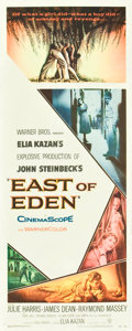 """Movie Posters:Drama, East of Eden (Warner Brothers, 1955). Insert (14"""" X 36"""").. ..."""