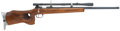 Military & Patriotic:WWII, Exquisite Quality, Custom Anschutz Style, Single Shot Bolt Action .22 Caliber Target Rifle Mounted with a J. W. Fecker Scope....