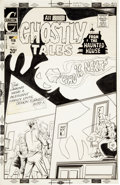 Original Comic Art:Covers, Steve Ditko Ghostly Tales #102 Cover Original Art (Charlton,1973)....