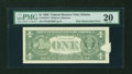 Error Notes:Obstruction Errors, Fr. 1918-F $1 1993 Federal Reserve Note. PMG Very Fine 20.. ...