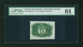Fractional Currency:Second Issue, Fr. 1244SP 10c Second Issue Narrow Margin Back PMG Choice Uncirculated 64....
