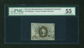 Fractional Currency:Second Issue, Fr. 1244SP 10c Second Issue Narrow Margin Face PMG About Uncirculated 55....