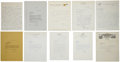 Autographs:Letters, Dodgers Signed Letters And Correspondence Lot of 10....