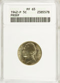 Proof Jefferson Nickels: , 1942-P 5C Type Two PR65 ANACS. NGC Census: (650/1286). PCGS Population (1714/1629). Mintage: 27,600. Numismedia Wsl. Price ...