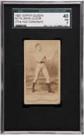 Boxing Cards:General, 1887 N174 Gypsy Queen Prizefighters J.P. Clour SGC 40 VG 3....
