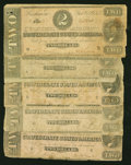 Confederate Notes:1862 Issues, Confederate $2s Good or Better.. ... (Total: 5 notes)