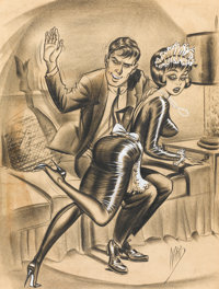 "BILL WARD (American, 1919-1998) ""I Appreciate Your Little Attentions Marie, But Cleaning My Pipe with Detergent"