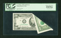 Error Notes:Foldovers, Fr. 2074-L $20 1981A Federal Reserve Note. PCGS Choice About New55PPQ.. ...