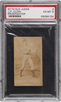 Boxing Cards:General, 1887 N174 Old Judge J.P. Clow, Wavy Logo PSA EX-MT 6....
