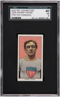Olympic Collectibles:Autographs, 1911 T229 Pet Cigarettes Johnny Hayes ( The Hull Collection) SGC 40VG 3....