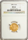 1896 $2 1/2 MS62 NGC. NGC Census: (163/298). PCGS Population (131/324). Mintage: 19,000. Numismedia Wsl. Price for NGC/P...