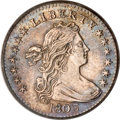 Early Half Dimes, 1803 H10C Large 8 AU55 PCGS....