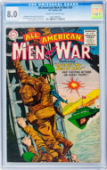 Golden Age (1938-1955):War, All-American Men of War #20 (DC, 1955) CGC VF 8.0 Cream tooff-white pages....
