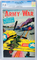 Golden Age (1938-1955):War, Our Army at War #29 (DC, 1954) CGC VF- 7.5 Cream to off-white pages....