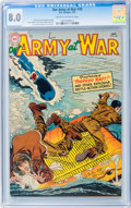 Golden Age (1938-1955):War, Our Army at War #30 (DC, 1955) CGC VF 8.0 Cream to off-white pages....