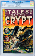 Golden Age (1938-1955):Horror, Tales From the Crypt #45 (EC, 1954) CGC VF+ 8.5 Off-white pages....