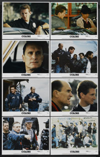 "Colors (Orion, 1988). Lobby Card Set of 8 (11"" X 14""). Action. Starring Sean Penn, Robert Duvall, Maria Conchi..."
