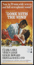 "Movie Posters:Academy Award Winner, Gone with the Wind (MGM, R-1967). Three Sheet (41"" X 81""). AcademyAward Winner. Starring Clark Gable, Vivien Leigh, Leslie ..."