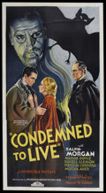 """Movie Posters:Horror, Condemned to Live (Chesterfield, 1935). Three Sheet (41"""" X 81""""). Horror. Starring Ralph Morgan, Maxine Doyle, Russell Gleaso..."""