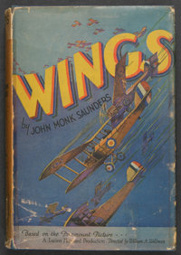 """Wings (Paramount, 1927). Photoplay Edition Book (249 Pages, 5.25"""" X 7.5""""). War. Starring Clara Bow, Charles &q..."""