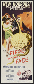 """Movie Posters:Science Fiction, Fiend Without a Face (MGM, 1958). Insert (14"""" X 36""""). ScienceFiction. Starring Marshall Thompson, Kynaston Reeves, Michael ..."""