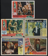 """Science Fiction / Horror Lot (Various, 1957-1966). Lobby Cards (5) (11"""" X 14"""") """"Curse of the Undead""""..."""
