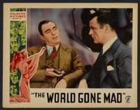 """World Gone Mad (Majestic, 1933). Lobby Card (11"""" X 14""""). Mystery. Starring Pat O'Brien, Evelyn Brent, Neil Ham..."""