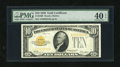 Small Size:Gold Certificates, Fr. 2400 $10 1928 Gold Certificate. PMG Extremely Fine 40 EPQ.. ...