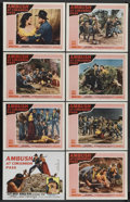 "Movie Posters:Western, Ambush at Cimarron Pass (20th Century Fox, 1958). Lobby Card Set of8 (11"" X 14""). Western. Starring Scott Brady, Clint East... (Total:8)"