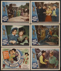 "Movie Posters:Western, Under Western Skies (Universal, 1944). Title Lobby Card (11"" X 14"") and Lobby Cards (5) (11"" X 14""). Western. Starring Marth... (Total: 6)"