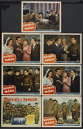 "Movie Posters:Musical, Rookies on Parade (Republic, 1941). Title Lobby Card (11"" X 14"") and Lobby Cards (6) (11"" X 14""). Musical. Starring Bob Cosb... (Total: 7)"