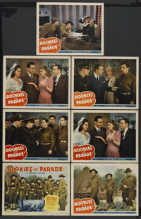 "Rookies on Parade (Republic, 1941). Title Lobby Card (11"" X 14"") and Lobby Cards (6) (11"" X 14""). Mu..."