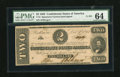 Confederate Notes:1862 Issues, T54 $2 1862. Cr 391...