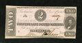 Confederate Notes:1862 Issues, T54 $2 1862. Some ink erosion is seen in the signature portion onthis pink paper Judah Benjamin deuce. Extremely Fine-Abo...