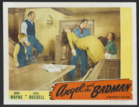 "Angel and the Badman (Republic, 1947). Lobby Card (11"" X 14""). Western. Starring John Wayne, Gail Russell, Har..."