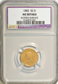 Liberty Quarter Eagles: , 1882 $2 1/2 --Altered Surfaces--NCS. AU Details. NGC Census:(4/146). PCGS Population (8/111). Mintage: 4,000. Numismedia Ws...