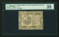Colonial Notes:Continental Congress Issues, Continental Currency November 2, 1776 $6 PMG Choice About Unc58....