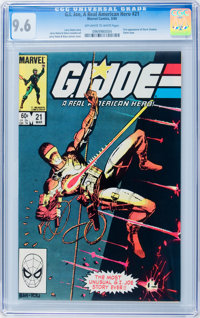 G. I. Joe, A Real American Hero #21 (Marvel, 1984) CGC NM+ 9.6 Off-white to white pages