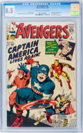 Silver Age (1956-1969):Superhero, The Avengers #4 (Marvel, 1964) CGC VF+ 8.5 Cream to off-whitepages....