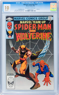 Marvel Team-Up #117 Spider-Man and Wolverine (Marvel, 1982) CGC MT 10 Off-white to white pages